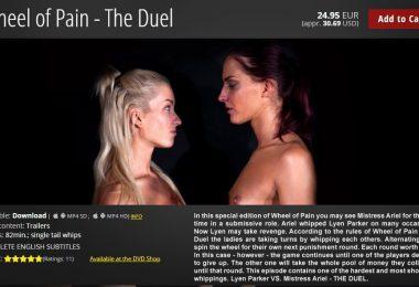 01 1 380x260 - Elite Pain – MP4/HD – Lyen Parker VS. Mistress Ariel - Wheel of Pain - The Duel