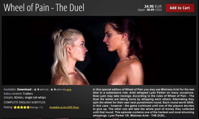 01 1 810x487 - Elite Pain – MP4/HD – Lyen Parker VS. Mistress Ariel - Wheel of Pain - The Duel