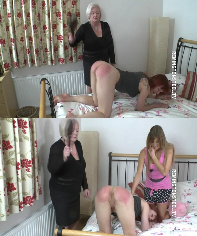 2019 11 17 112112 - Spanking Sarah – MP4/SD – Darcy, Bow - Young Darcy paddled so very hard