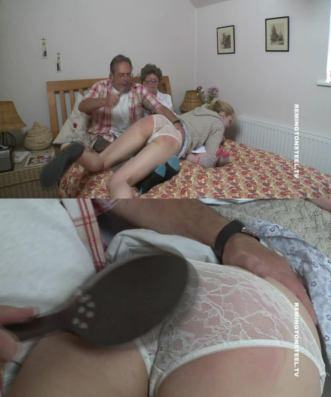 English Spankers – MP4/SD – Amelia Jane Rutherford, Katie Didit, Mr Stern – Redriding hood Part 2
