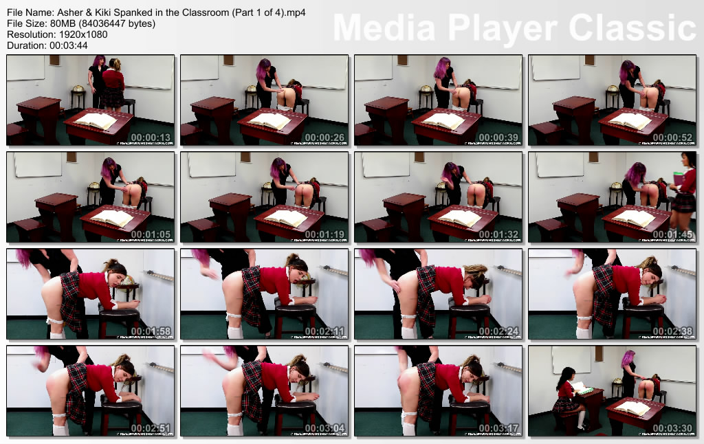thumbs20191228235928 - Real Spankings Institute – MP4/Full HD – Asher & Kiki: Spanked in the Classroom (Part 1 of 4) | December 27, 2019