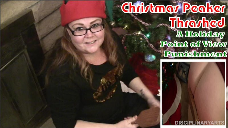 Disciplinary Arts – MP4/Full HD – Kyle Johnson, Ambere – POV Series: Christmas Peeker Thrashed