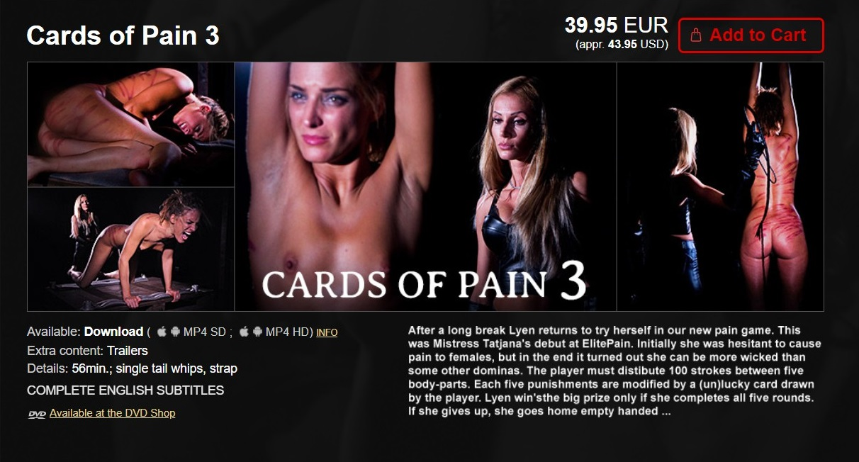 Elite Pain – MP4/HD – Cards of Pain 3