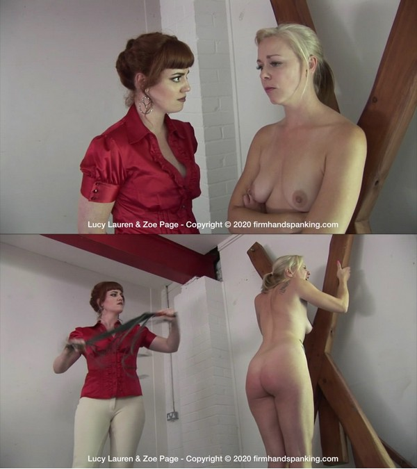 Firm Hand Spanking – MP4/HD – Lucy Lauren – Racing Stables Discipline – BP Stripped naked and flogged on the punishment frame: Lucy Lauren tastes the lash | Apr 15, 2020