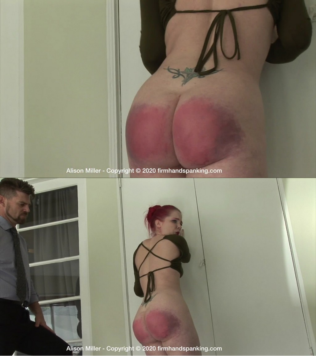 "Firm Hand Spanking – MP4/HD – Alison Miller – Secretarial Challenge – D/Alison Miller meets her plastic nemesis a lexan paddle. ""I hated it!"" (Release date: May 20, 2020)"