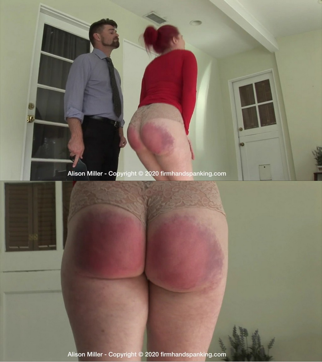 Firm Hand Spanking – MP4/HD – Alison Miller – Secretarial Challenge – E/Alison Miller takes the wooden paddle. First time in two years OUCHIE! (Release date: May 25, 2020)