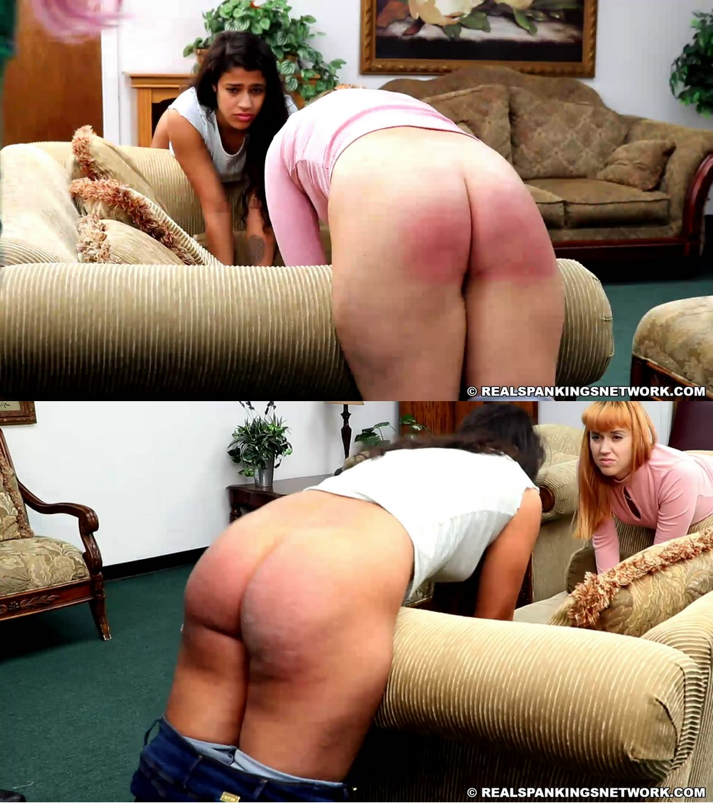 Real Spankings – MP4/Full HD – Cara, Cleo – Belt Spanking In The Living Room (Part 2 Of 2)