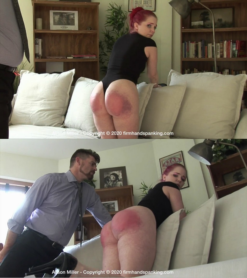 Firm Hand Spanking – MP4/HD – Alison Miller – Secretarial Challenge – F/Spanked and paddled Alison Miller bared for a sound spanking from her boss (Release date: Jun 3, 2020)