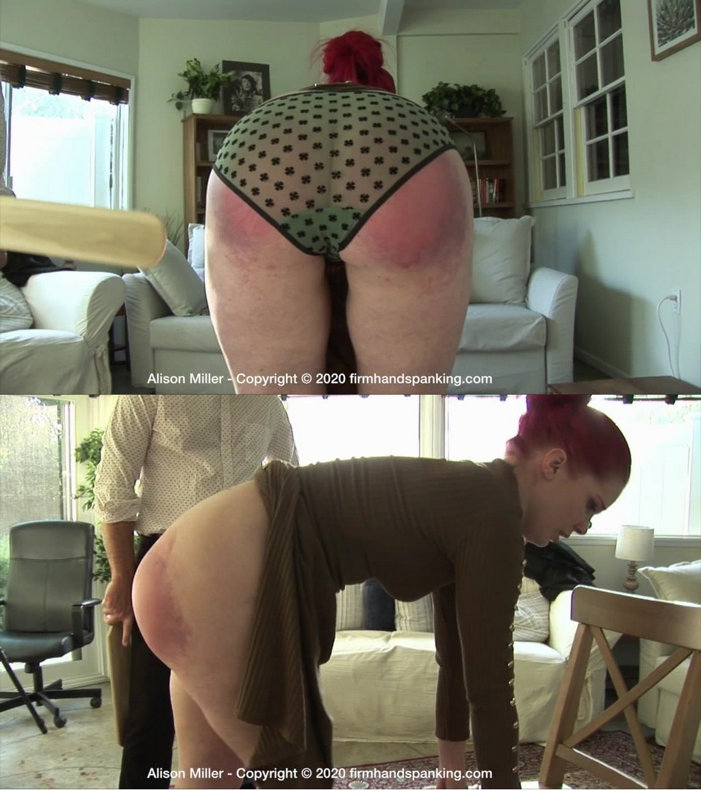 Firm Hand Spanking – MP4/HD – Alison Miller – Secretarial Challenge – H/Will Alison Miller submit to a paddling And where did her boss get that board (Release date: Jun 17, 2020)