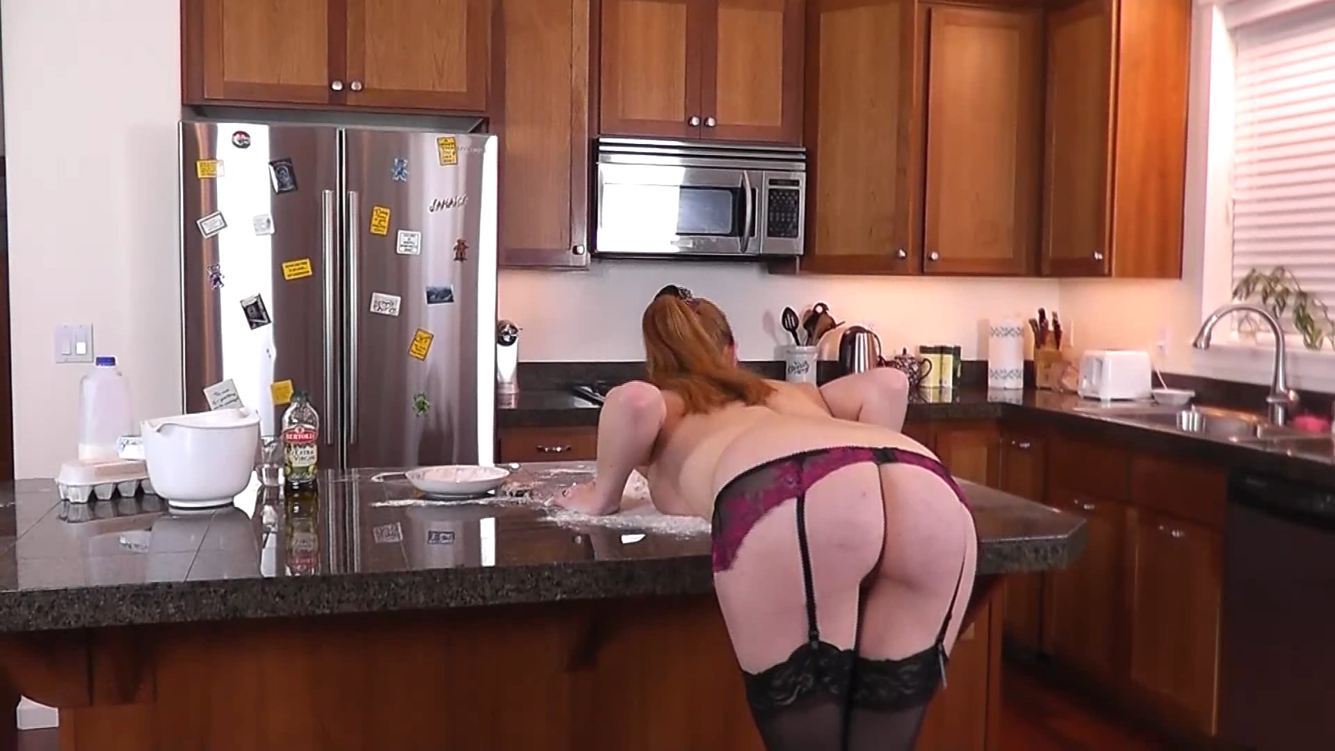 Red Cheeks Studios – MP4/Full HD – Kitchen Frolics ends in Spanking