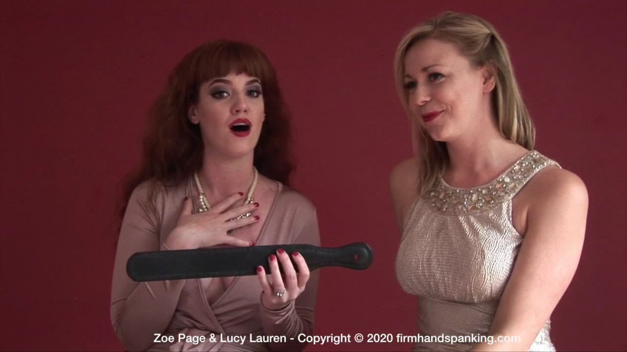 Firm Hand Spanking – MP4/HD – Lucy Lauren, Zoe Page – Candid Confessions Job Interview