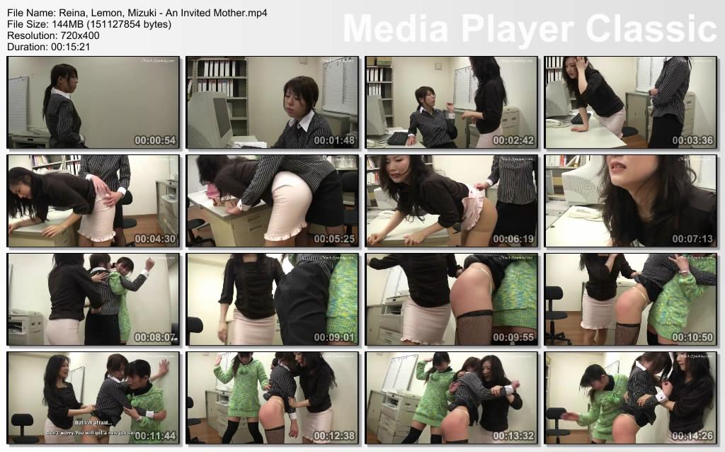 thumbs20200628124518 - Hand-Spanking – MP4/SD –  Reina, Lemon, Mizuki - An Invited Mom