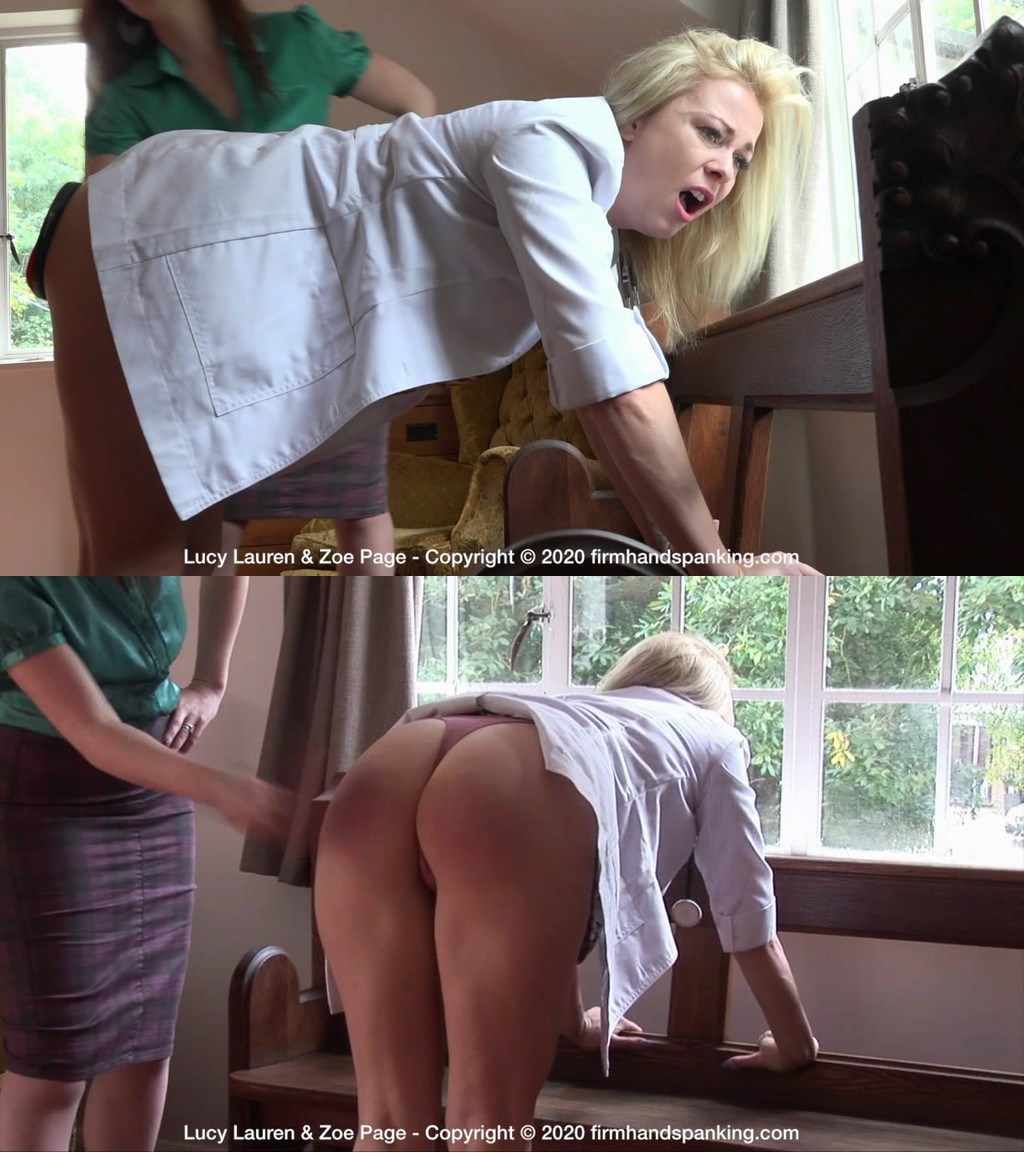 Firm Hand Spanking – MP4/HD – Lucy Lauren,Zoe Page – Doctor's Dilemma – C/Lucy's bedside manner earns a bare bottom spanking with a ping pong paddle (Release date: Jul 10, 2020)