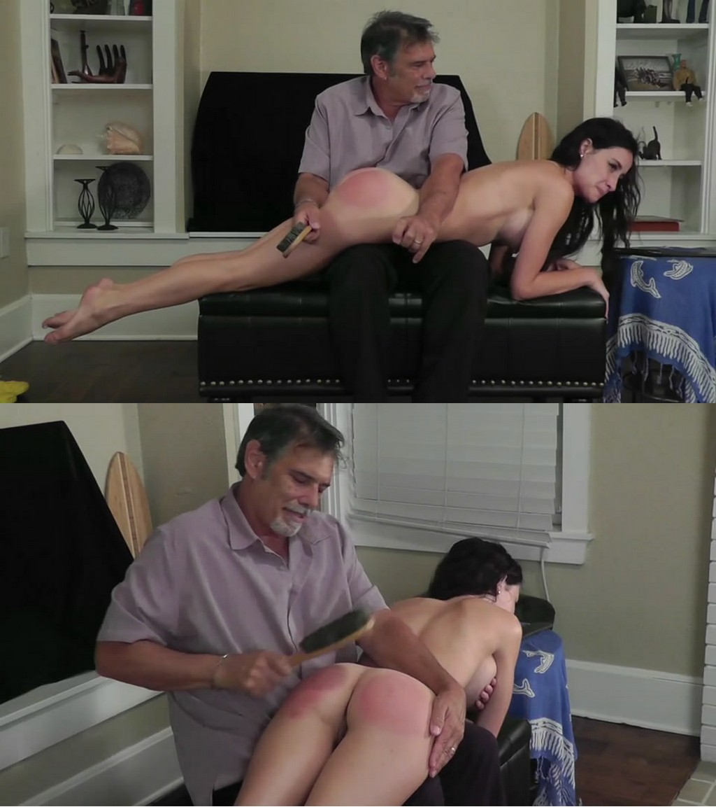 Dallas Spanks Hard – MP4/SD – Hailey – Naughty Naked Needed 2 – Naked Hairbush Spanking