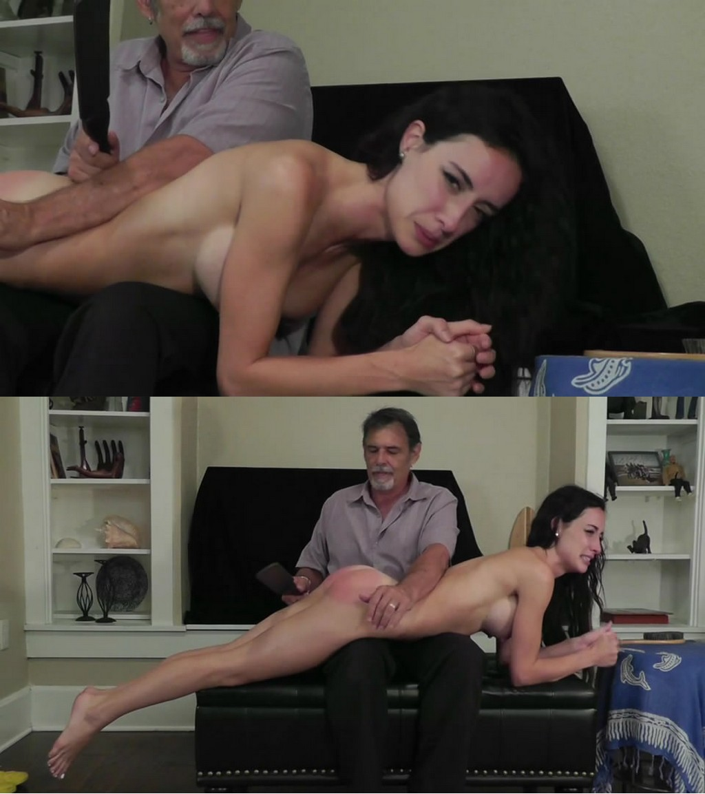 Dallas Spanks Hard – MP4/SD – Hailey – Naughty Naked Needed 3 – Naked Hairbush Spanking