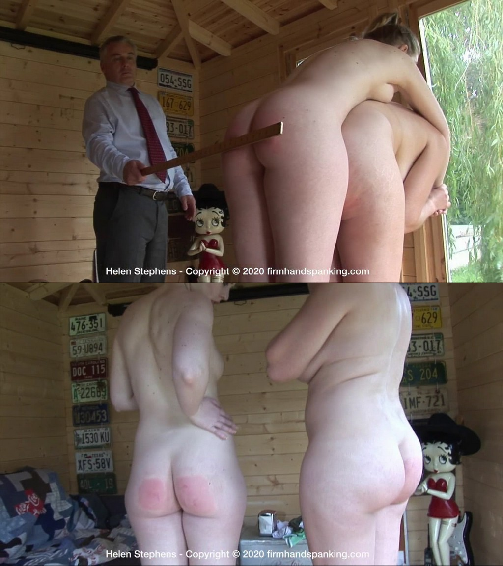 "Firm Hand Spanking – MP4/HD – Helen Stephens – Spa Rules – AB/Two Completely Naked Attractiveness are spanked: Helen""horsed"" for punishment  (Release date: Aug 03, 2020)"