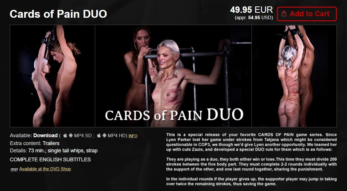 Elite Pain – MP4/HD – Cards of Pain DUO