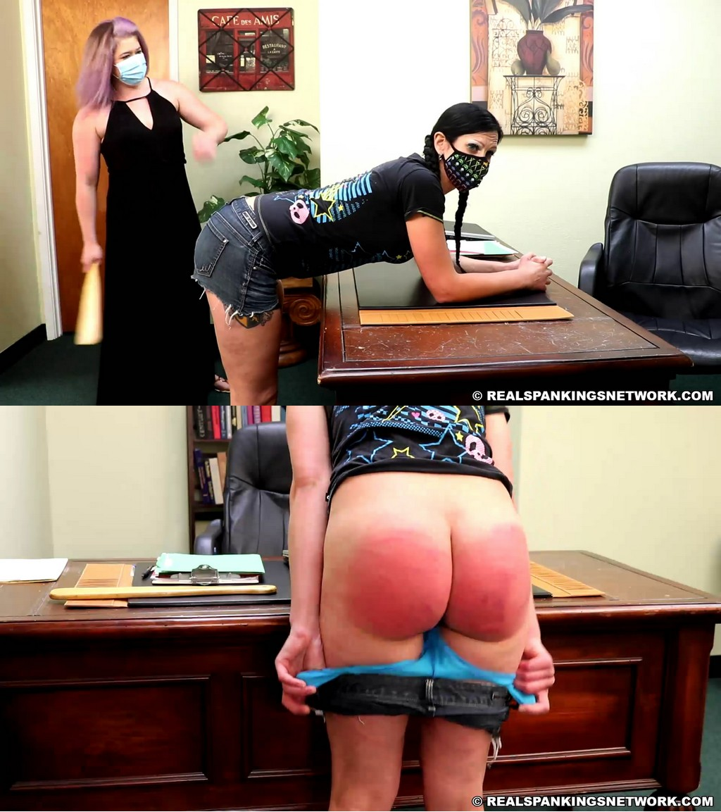 Real Spankings – MP4/Full HD – Lilith – Lilith Paddled For Brief Pants