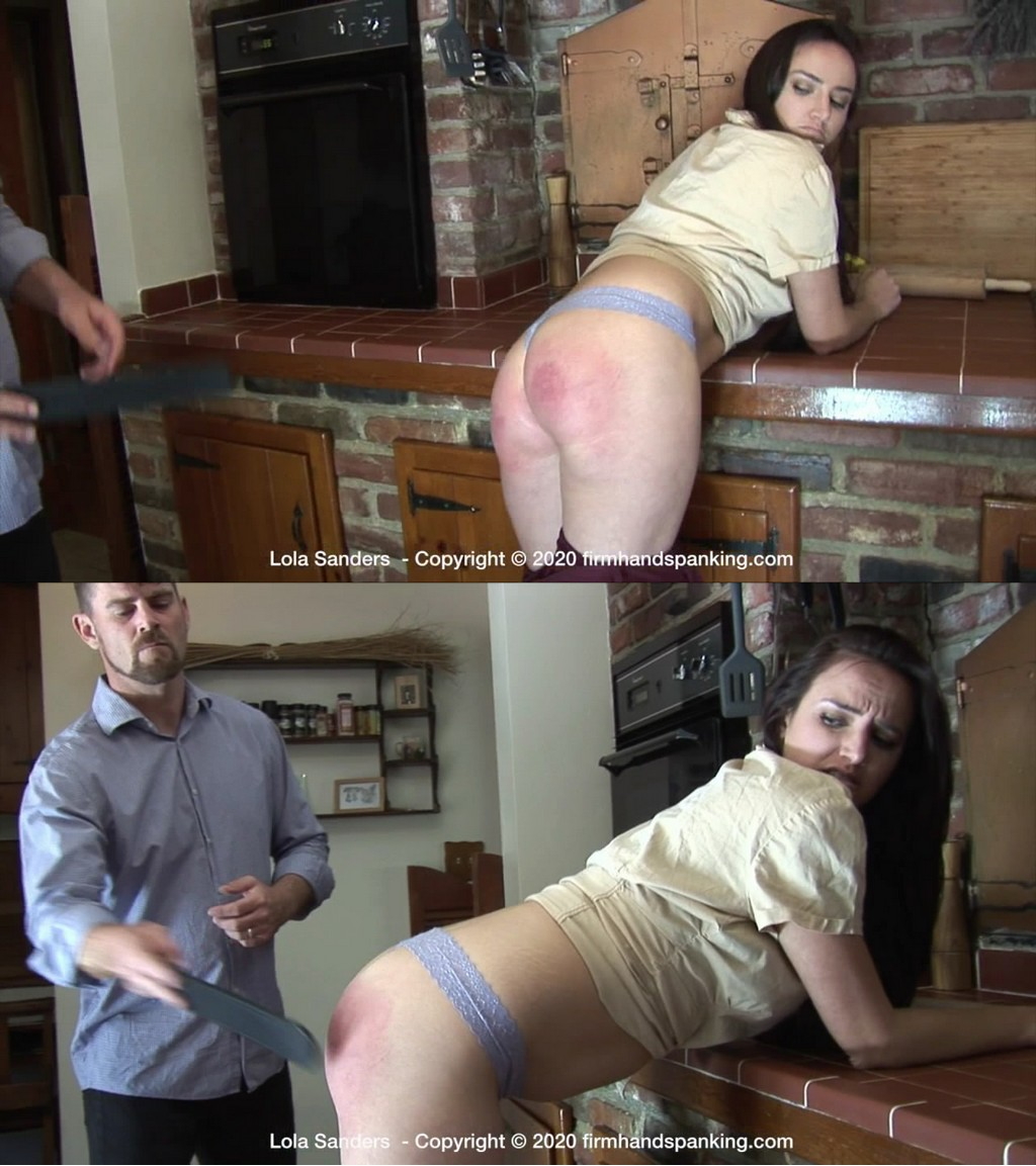 Firm Hand Spanking – MP4/HD – Lola Sanders – New Rules – E/Staying out all night costs pretty brat Lola Sanders a bare-assed strapping (Release date: Oct 05, 2020)