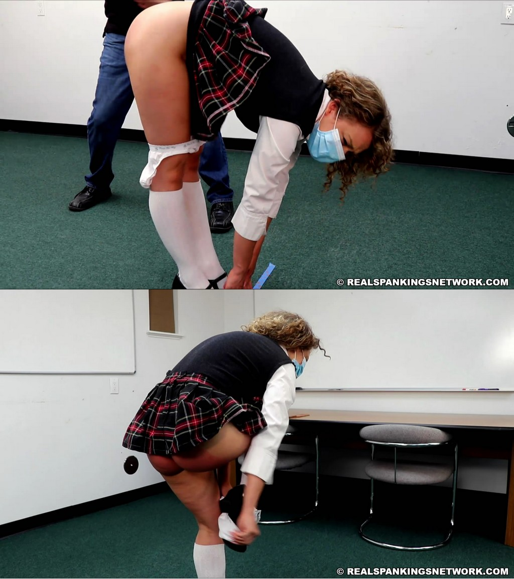 Real Spankings Institute – MP4/Full HD – Kiki Cali – Kiki: Strapped & Paddled By The Dean (Part 1)