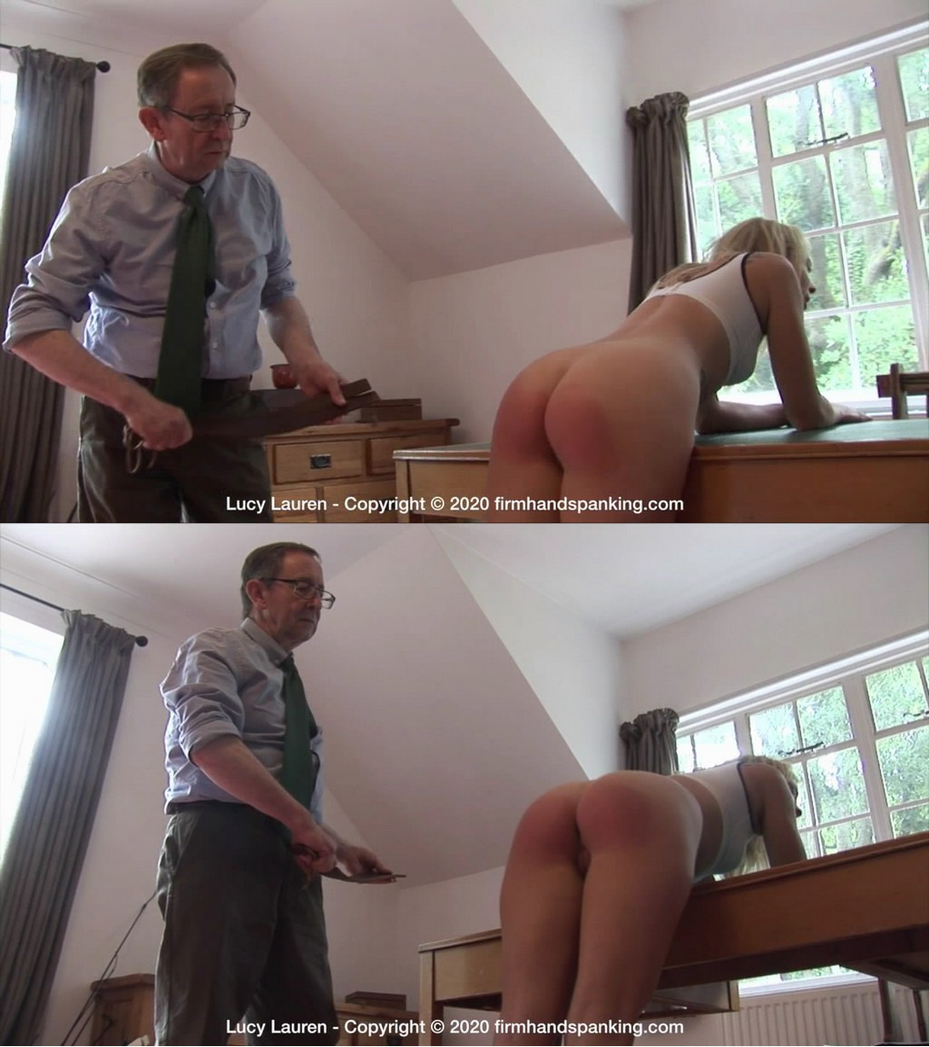 Firm Hand Spanking – MP4/HD – Lucy Lauren – Spanked in Uniform – F/An bare underside meets with a leather strap – Lucy's gloomy school girl dream is fulfilled! (Release date: Nov 11, 2020)