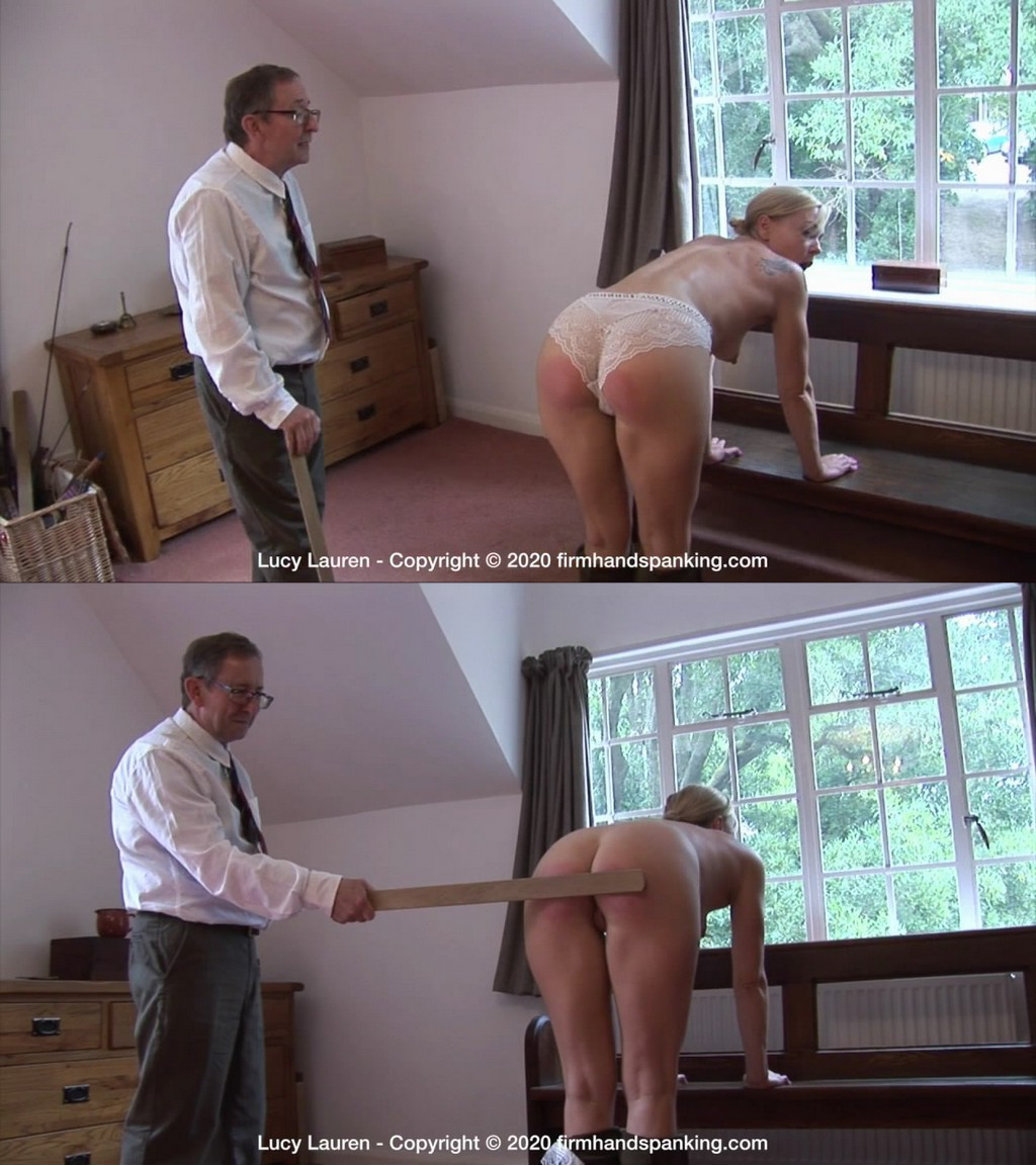 Firm Hand Spanking – MP4/HD – Lucy Lauren – Spanked In Uniform – K/Lucy Lauren's bottom spanked with a yardstick, bent over totally topless (Release date: Dec 9, 2020)
