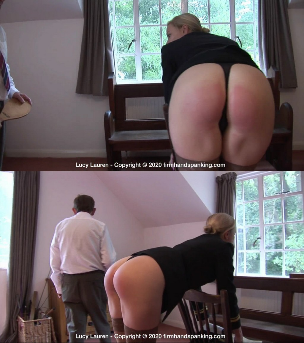 Firm Hand Spanking – MP4/HD – Lucy Lauren – Spanked In Uniform – M/Lucy Lauren just had the leather paddle, now she feels the burn of wood! (Release date: Dec 23, 2020)