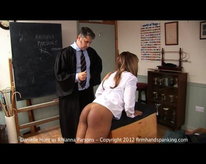Firm Hand Spanking – MP4/HD – Rhianna Parsons – School Detention