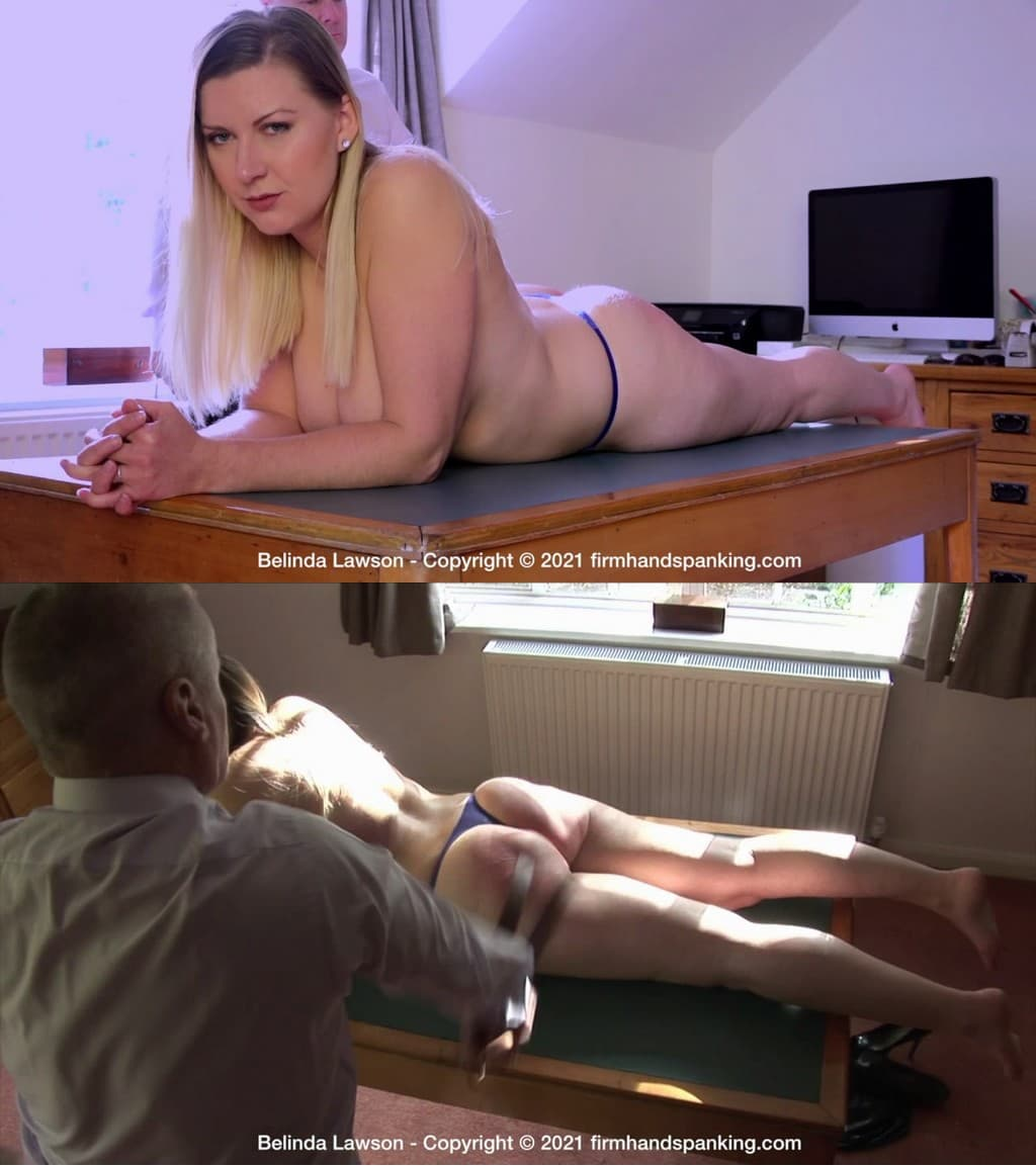 Firm Hand Spanking – MP4/HD – Belinda Lawson – Leather Princess – F/Almost naked laid out on a desk, Belinda Lawson is lying down on the job!  (Release date: Jan. 04, 2020)