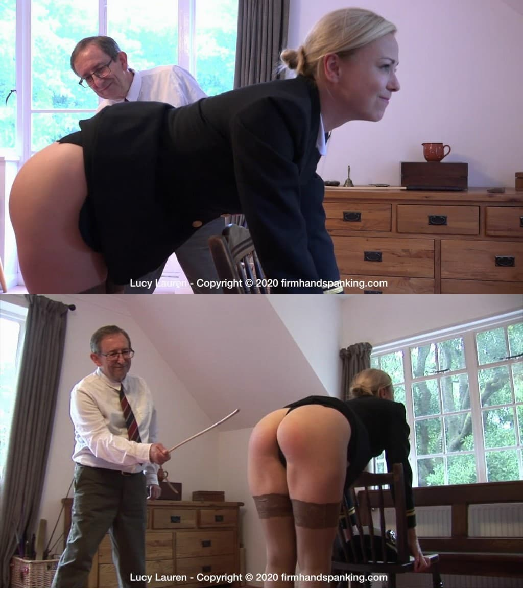 Firm Hand Spanking – MP4/HD –  Lucy Lauren – Spanked In Uniform – N/Caned in naval uniform – Lucy Lauren bends over for a taste of the rod (Release date: Dec. 30, 2020)