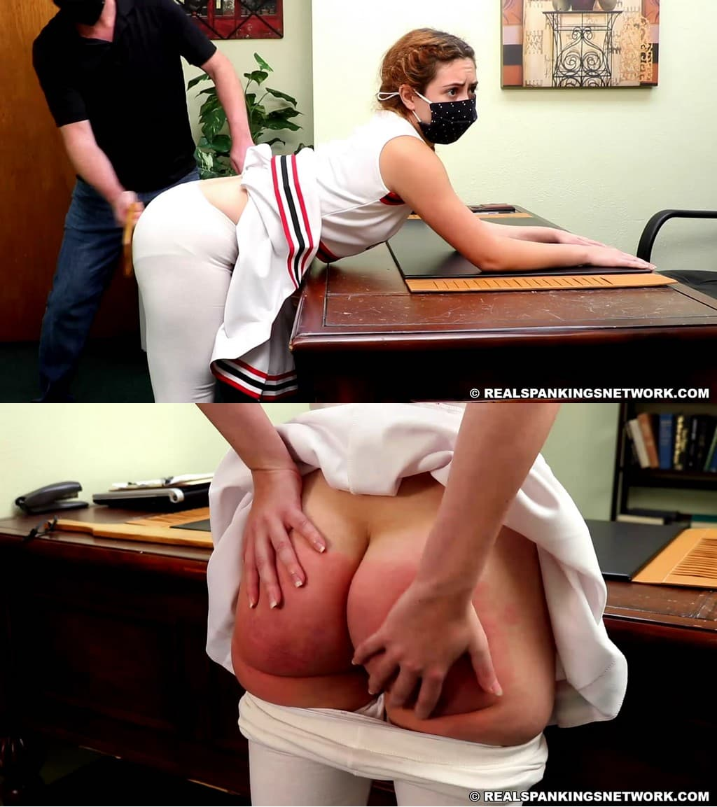 Real Spankings – MP4/Full HD – Nina – A Cheerleader's Severe Paddling
