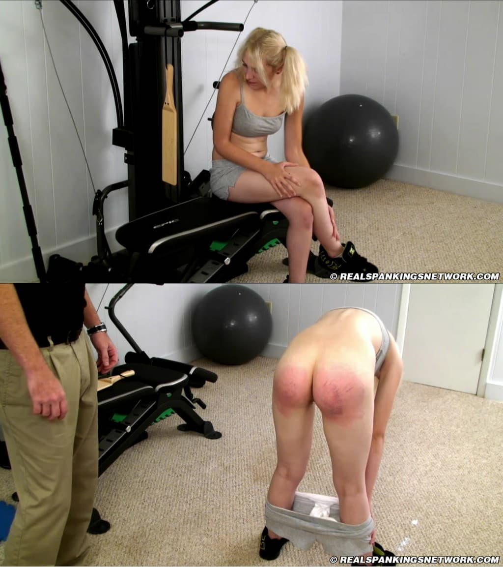 Real Spankings Institute – MP4/HD – Roxie – Roxie in scene: Roxie: Paddled in Gym – Coach's Office