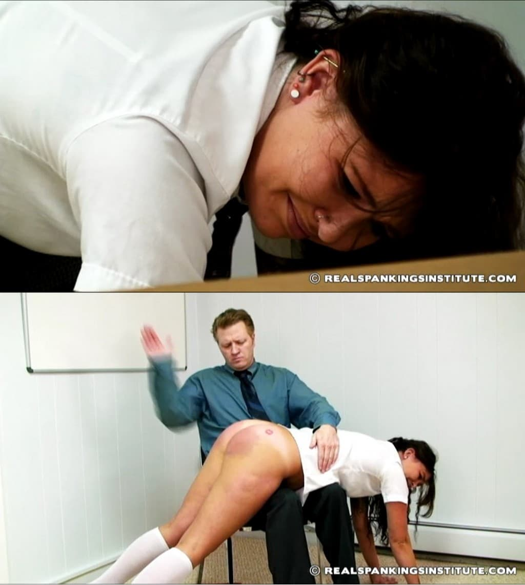 Real Spankings Institute – RM/SD – Frankie – Frankie in scene: Frankie Caught with Gum – OTK (Over The Knee)