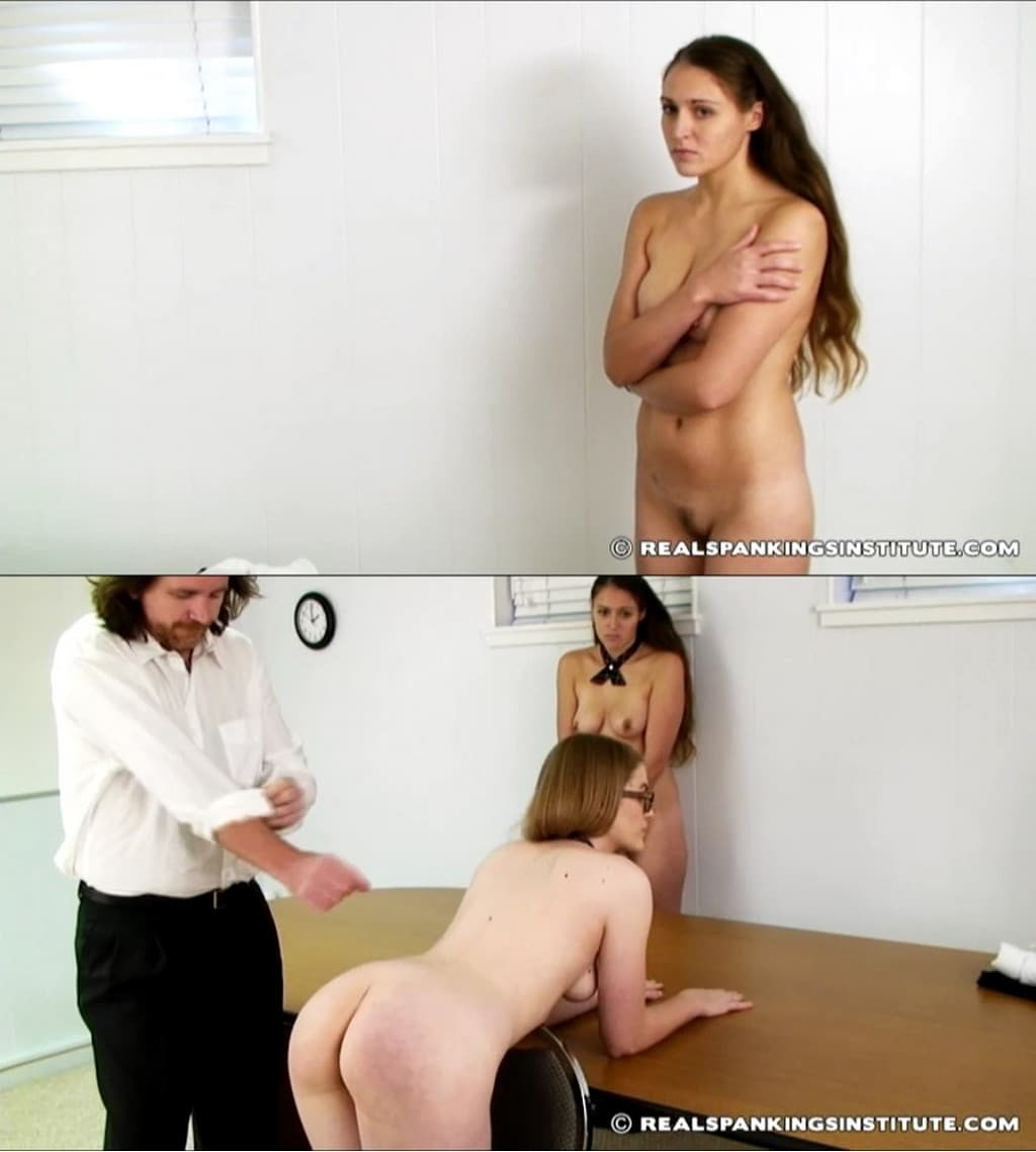 Real Spankings Institute – RM/SD – Ivy – Ivy in scene: Ivy and Melody Spanked for Uniform Infraction (Part 1 of 4) – Kneeling On A Chair