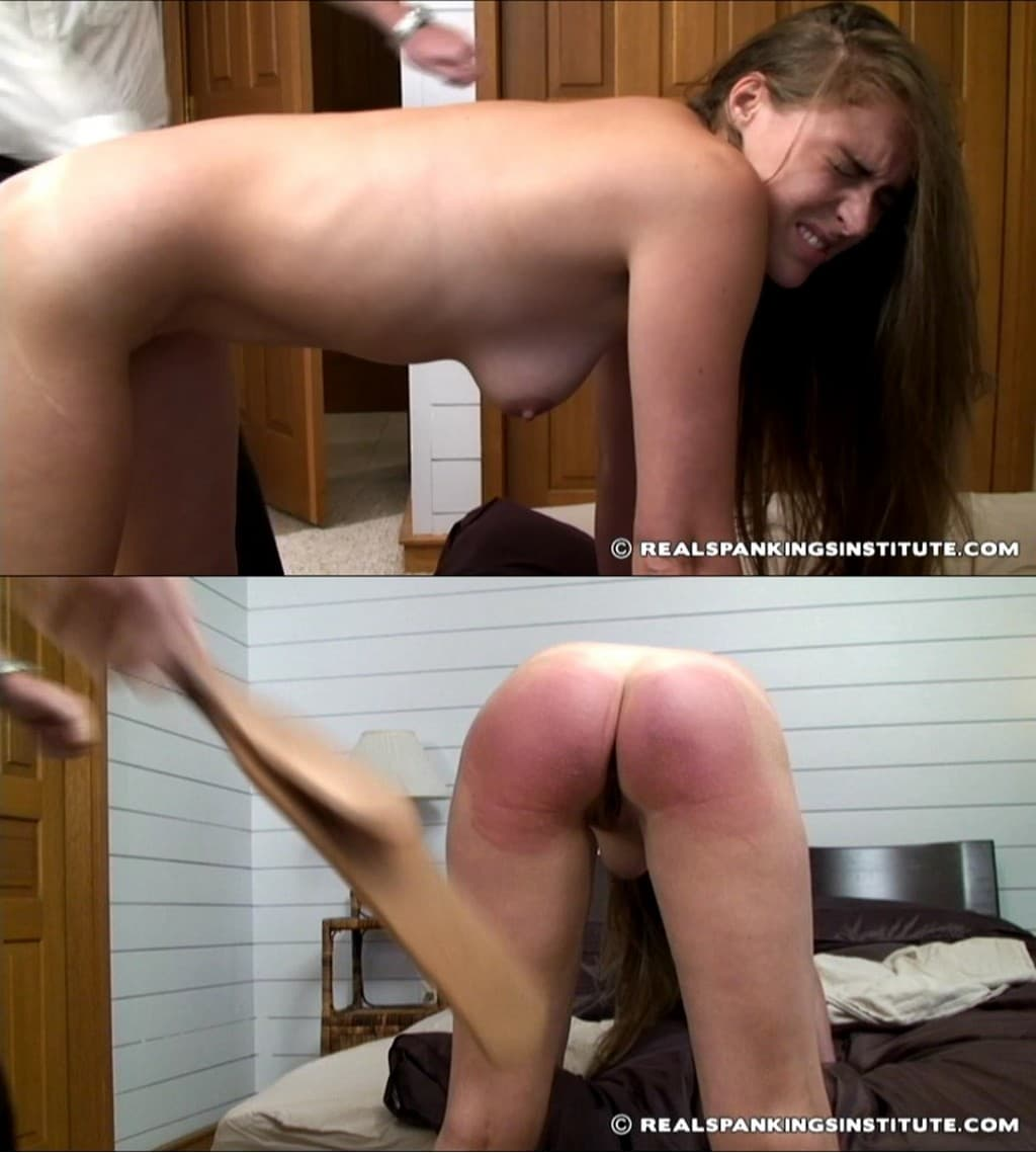 Real Spankings Institute – RM/SD – Melody – Melody in scene: Melody Spanked by The Dean (Part 2) – Leather Strap