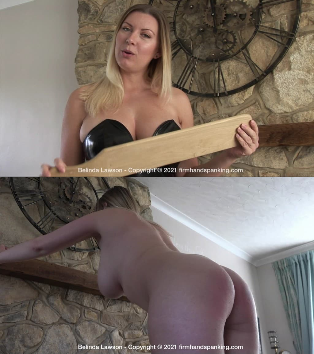 Firm Hand Spanking – MP4/HD – Belinda Lawson – New Year Special – K/Bonus totally nude paddling with Belinda to celebrate 2021! (Release date: Jan. 29, 2021)