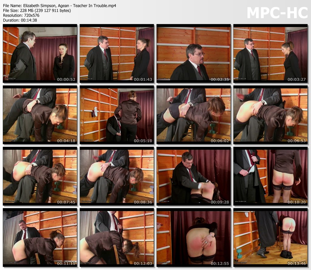 Elizabeth Simpson Agean Teacher In Trouble.mp4 thumbs - BiSpanking – MP4/SD – Elizabeth Simpson, Agean - Teacher In Trouble