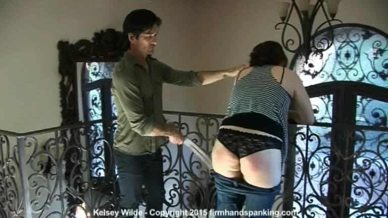 Firm Hand Spanking – MP4/HD – Kelsey Wilde – House Sitter