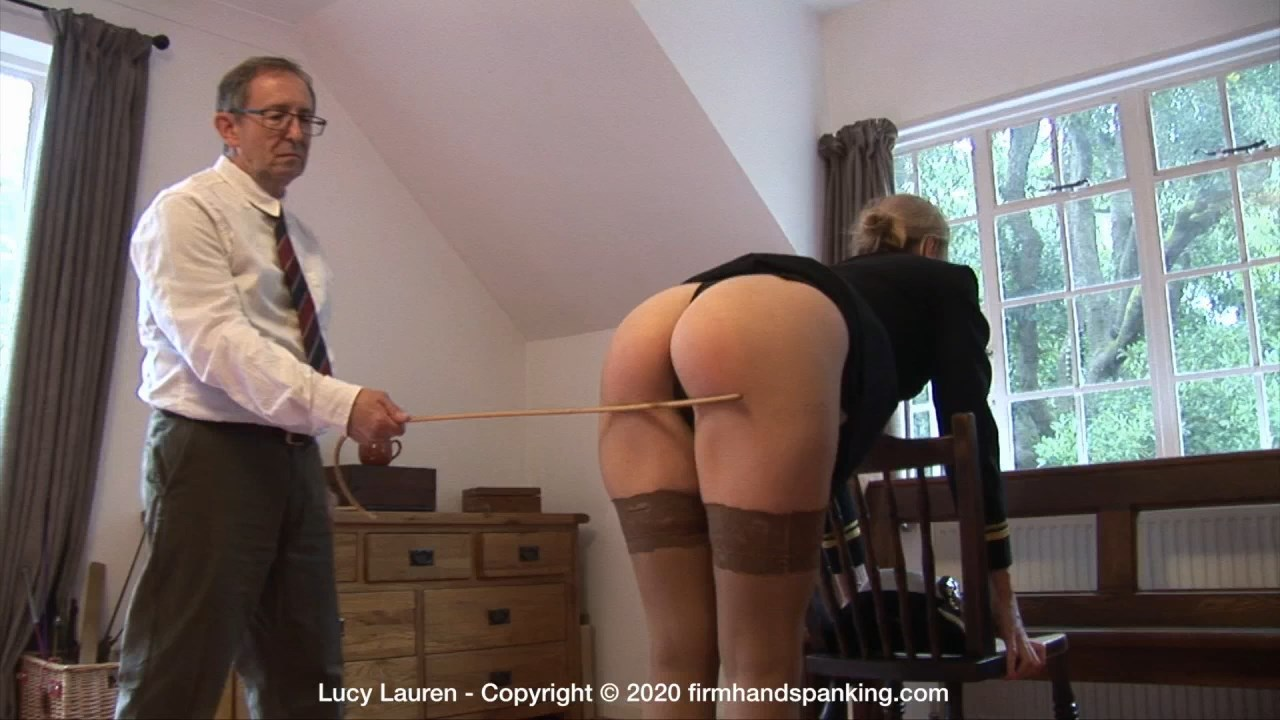 Firm Hand Spanking – MP4/Full HD – Lucy Lauren – Spanked In Uniform