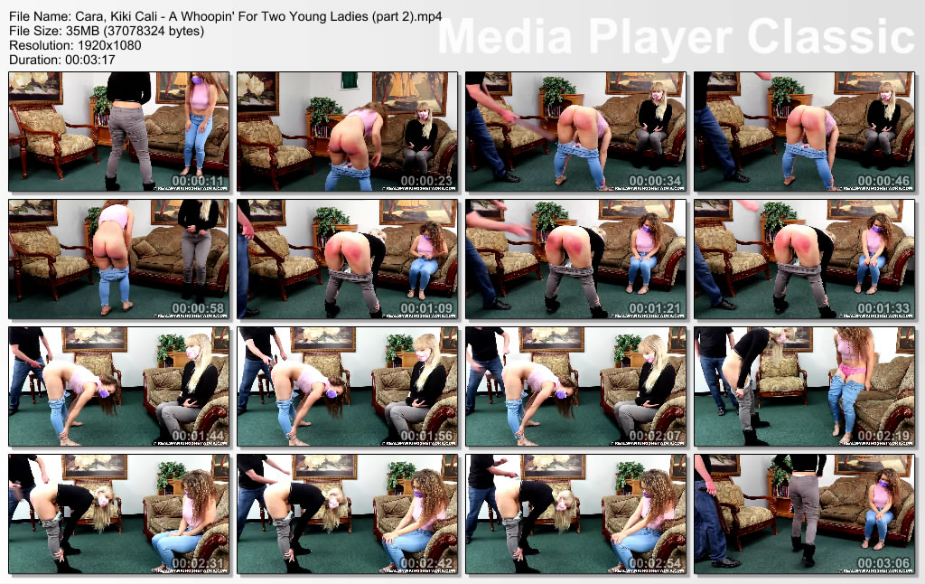thumbs20210107132716 - Real Spankings – RM/Full HD – Cara, Kiki Cali - A Whoopin' for Just 2 Teenagers (Element Two )