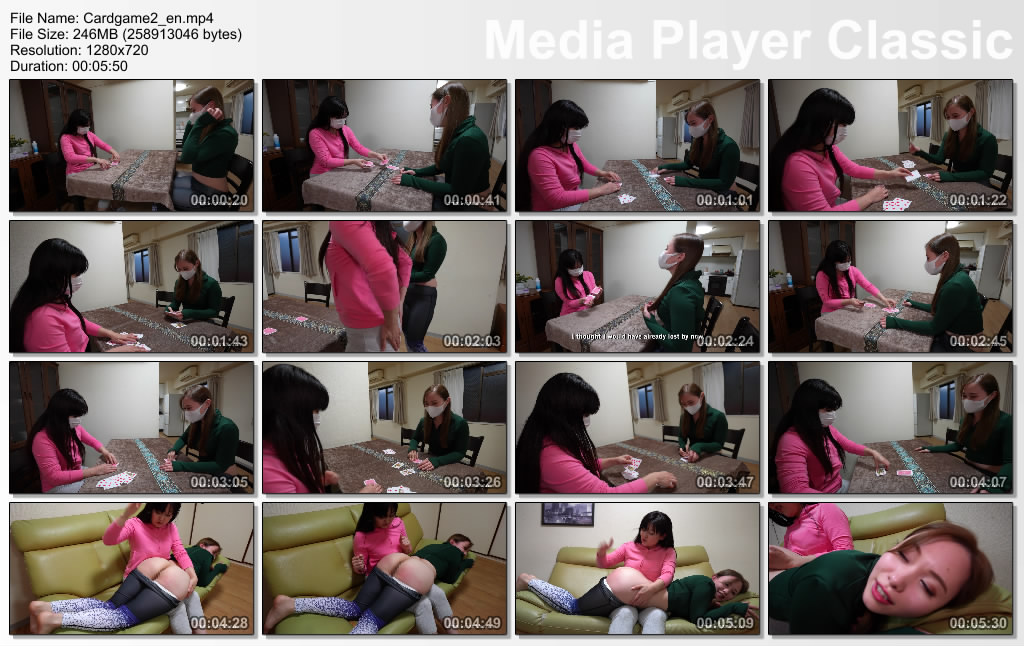 thumbs20210109123301 - Hand-Spanking – MP4/SD – Remi, Miki - Let Us Perform Card Game!(Eng Sub)
