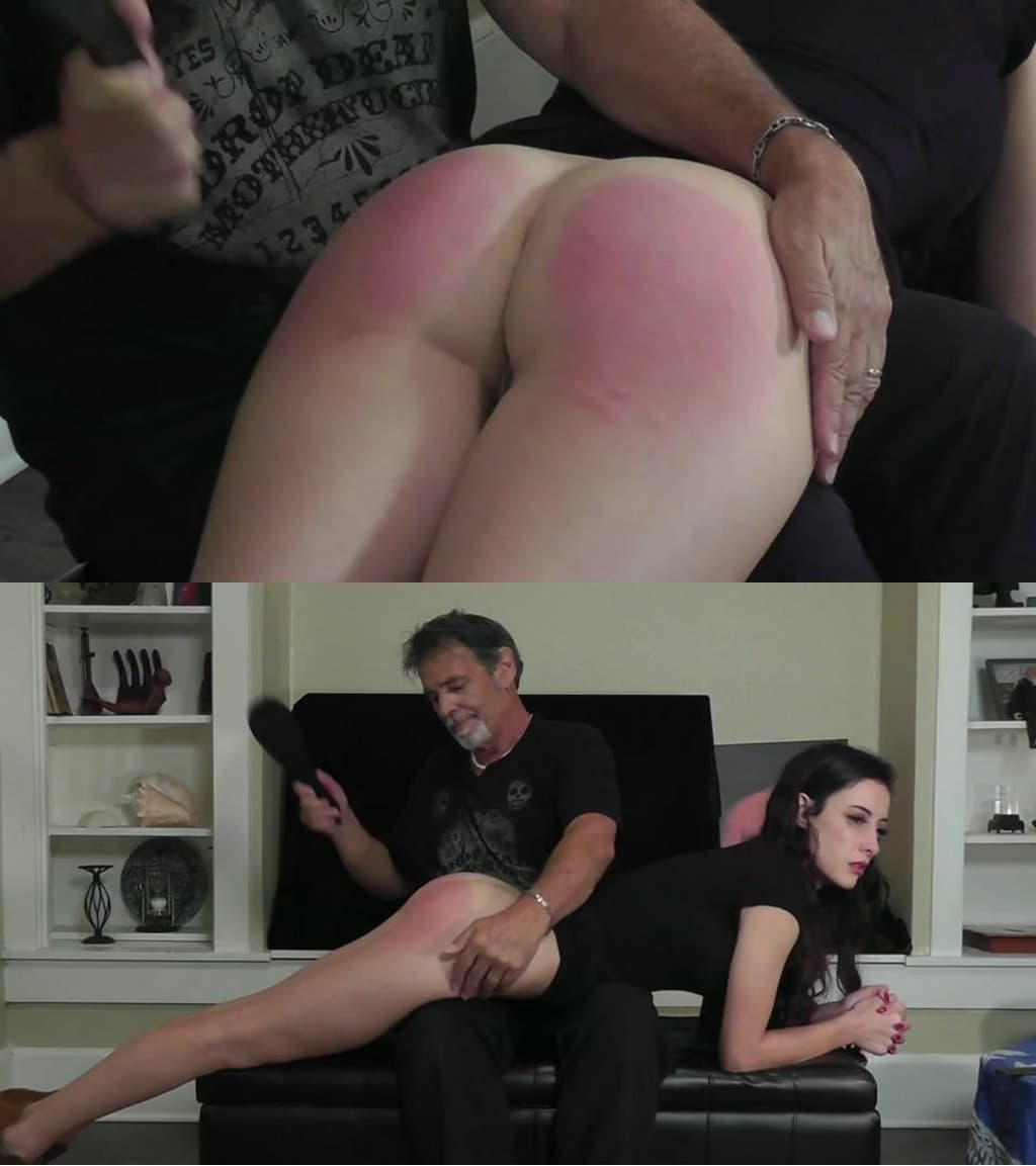 Dallas Spanks Hard – MP4/SD – Hailey – Tearful Consequences 4 – Metal-banded Paddle