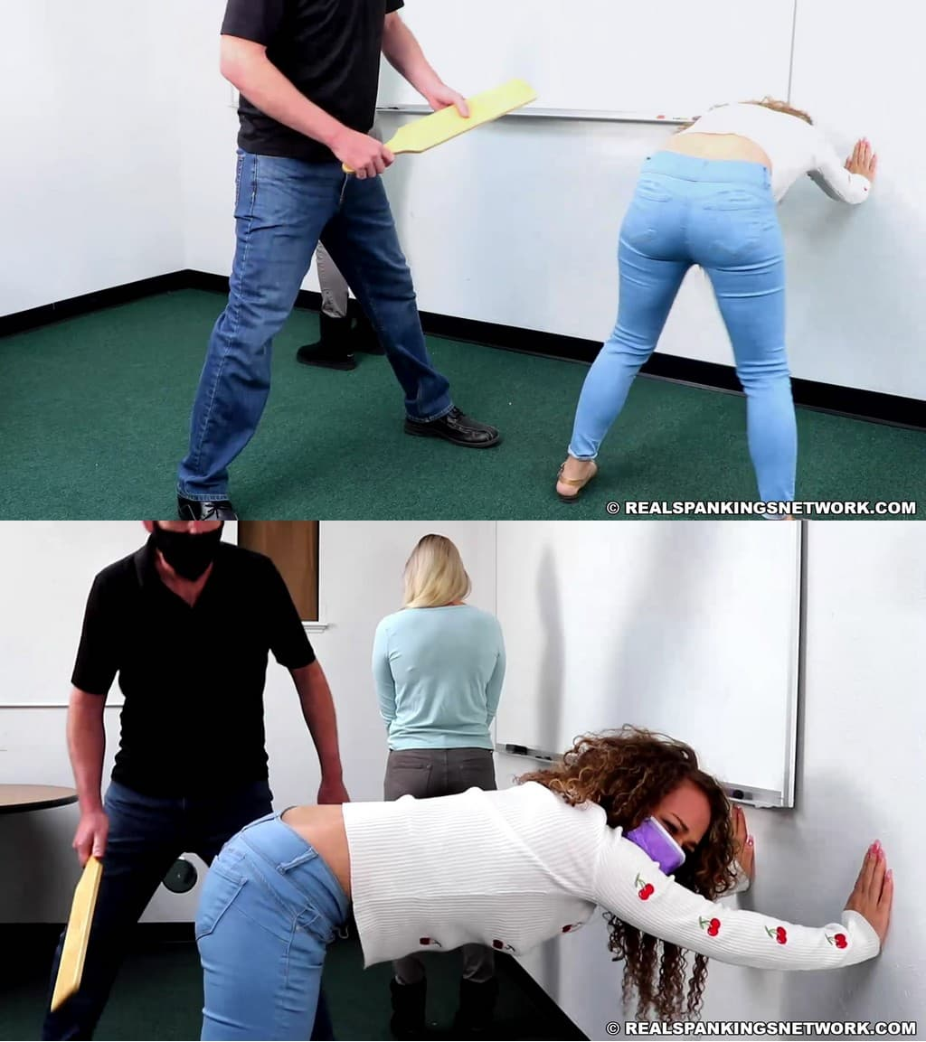 Real Spankings – MP4/Full HD – Cara, Kiki Cali – Pulled From Class For A Paddling (part 1)