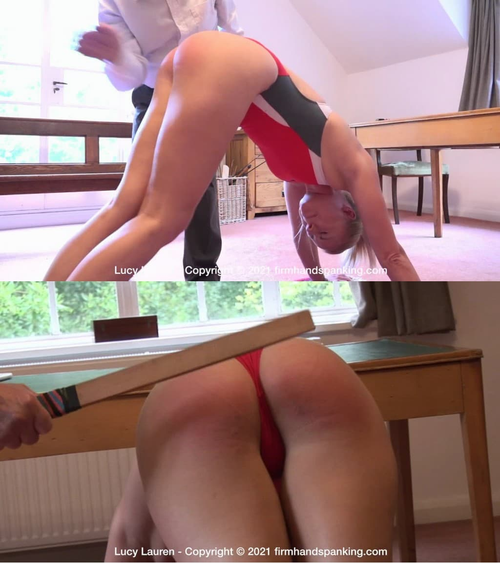 Firm Hand Spanking – MP4/HD – Lucy Lauren – Spanked In Uniform – T/Lucy spanked and paddled in the lunge position wearing a butt-baring swimsuit (Release date: Feb. 08, 2021)