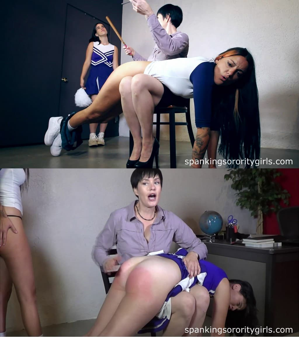 Spanking Sorority Girls – MP4/Full HD – Teacher Snow, Iris, April Rain – Spanking In The Office – Cheerleader Spanking