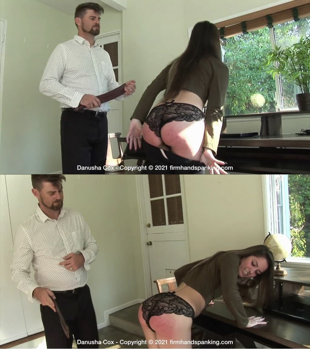 2021 02 25 122833 1 - Firm Hand Spanking – MP4/HD – Danusha Cox - Discipline Counselor - C/Bad attitude and piercings are not acceptable at school so Danusha is punished! (Release date: Feb. 19, 2021)