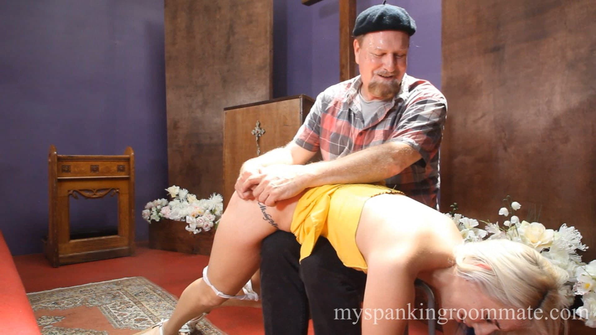 My Spanking Roommate – WMV/Full HD – Dria – Dria Spanked In Church