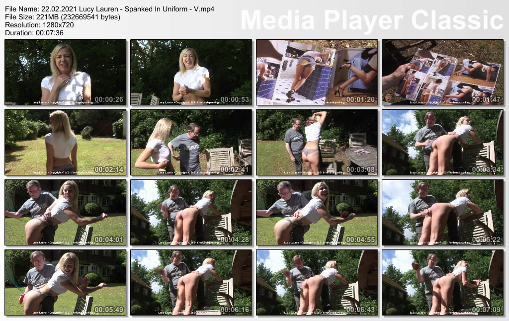 thumbs20210225115415 - Firm Hand Spanking – MP4/HD – Lucy Lauren - Spanked In Uniform - V/Fantasy fulfilled for Lucy Lauren as she's soundly spanked with her bottom bare (Release date: Feb. 22, 2021)