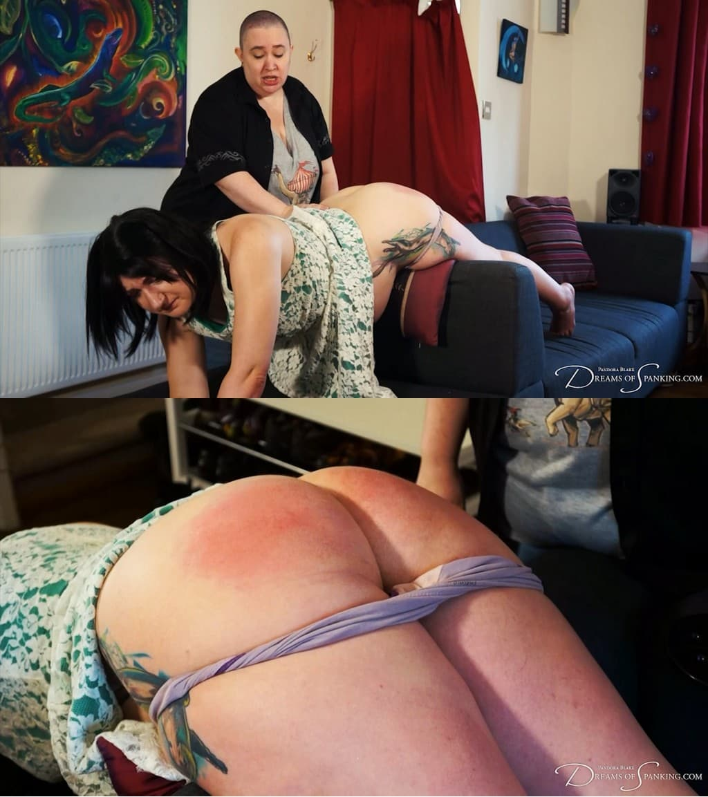 Dreams of Spanking – MP4/Full HD – Nimue Allen, Pandora Blake – Paternity Paddling For Pregnant Brat and Behind The Scenes