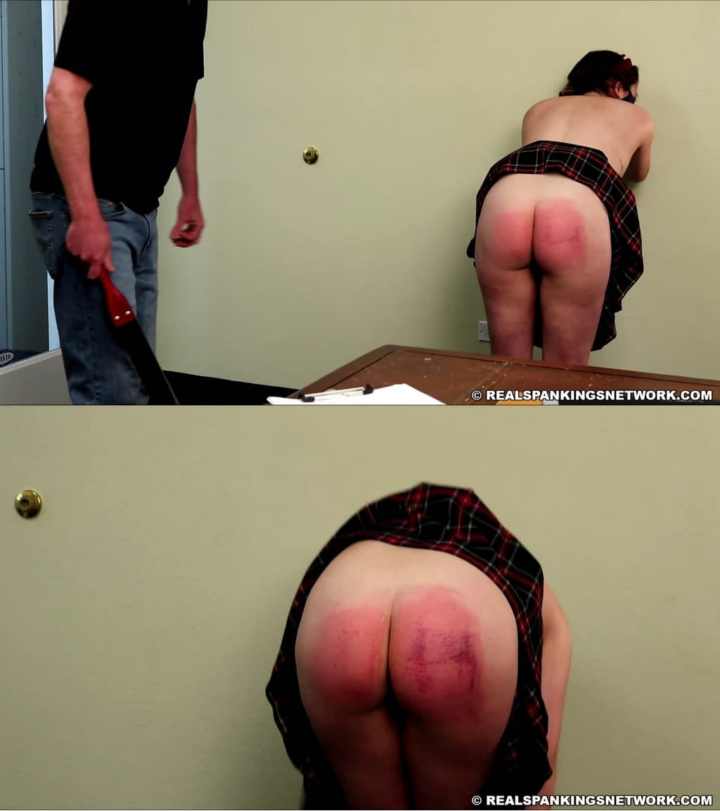 Real Spankings Institute – MP4/Full HD – Kaylee – Kaylee Caught With No Bra (part 2 Of 2) – Leather Strap